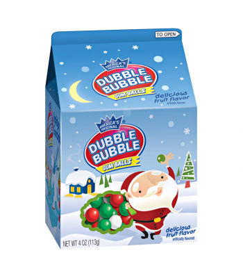 Dubble Bubble Gum Balls Christmas Carton - 4oz (113g) Sweets and Candy Dubble Bubble