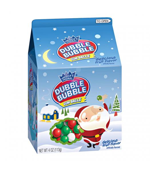 Dubble Bubble Gum Balls Milk Carton - 4oz (113g) [Christmas] Sweets and Candy Dubble Bubble