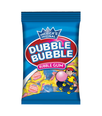 Dubble Bubble Gum Peg Bag 4.5oz (127g) Bubble Gum Dubble Bubble