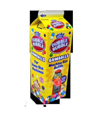 Dubble Bubble Assorted Gumballs Refill Carton 20oz (567g) Bubble Gum Dubble Bubble