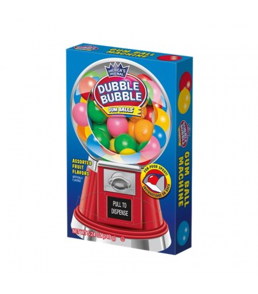 Dubble Bubble Gumball Machine Box 5.24oz (149g) Sweets and Candy Dubble Bubble
