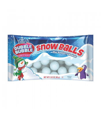 Dubble Bubble Blue Raspberry Snowballs - 2.32oz (65g) Sweets and Candy Dubble Bubble