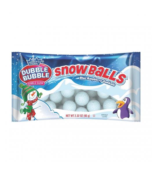 Dubble Bubble Blue Raspberry Snowballs - 2.32oz (65g) [Christmas] Sweets and Candy Dubble Bubble