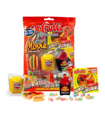 E.Frutti Gummies Movie Bag - 2.7oz (77g) Sweets and Candy E.Frutti