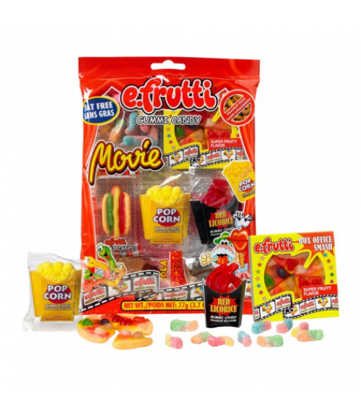E.Frutti Gummies Movie Bag 2.7oz (77g) Soft Candy