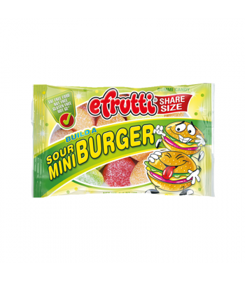 E.Frutti Build A Sour Mini Burger Gummies Share Size - 1.4oz (40g) Sweets and Candy E.Frutti