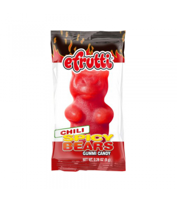 E-Frutti Spicy Bears Gummi Candy Chili 0.28oz (8g) Soft Candy