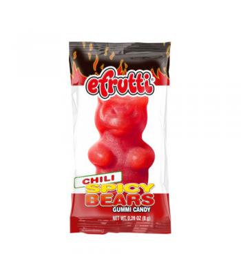 E-Frutti Spicy Bears Gummi Candy Chili 0.28oz (8g) Soft Candy