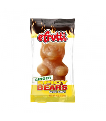 E.Frutti Gummi Candy Spicy Bears Ginger 0.28oz (8g) Soft Candy