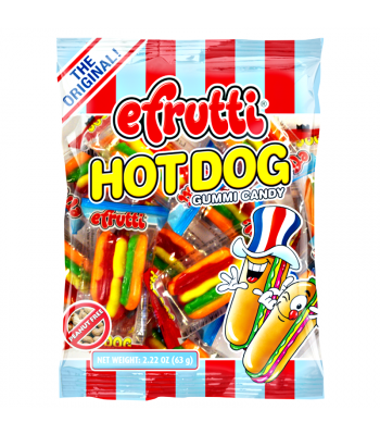 E.Frutti Gummi Candy Hot Dogs Peg Bag - 2.22oz (63g) Sweets and Candy E.Frutti