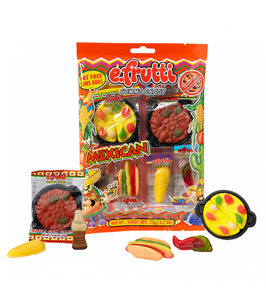 E.Frutti Mexican Dinner Peg Bag - 2.7oz (77g) Sweets and Candy
