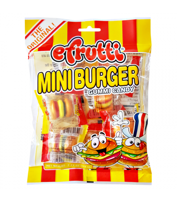 E.Frutti Gummi Candy Mini Burgers Peg Bag 2.22oz (63g) Sweets and Candy E.Frutti