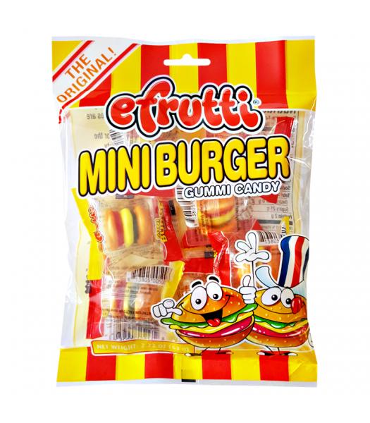 E.Frutti Gummi Candy Mini Burgers Peg Bag 2.22oz (63g) Soft Candy