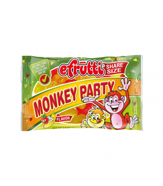 E.Frutti Monkey Party Gummies Share Size - 1.8oz (50g) Sweets and Candy E.Frutti