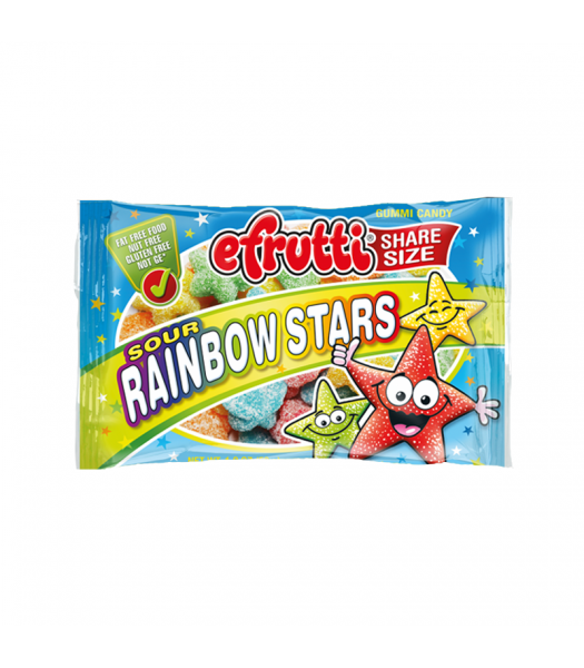 E.Frutti Sour Rainbow Stars Gummies Share Size - 1.8oz (50g) Sweets and Candy E.Frutti