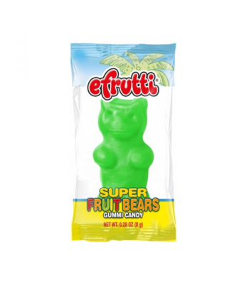 E.Frutti Gummi Candy Super Fruit Bears 0.28oz (8g) Soft Candy