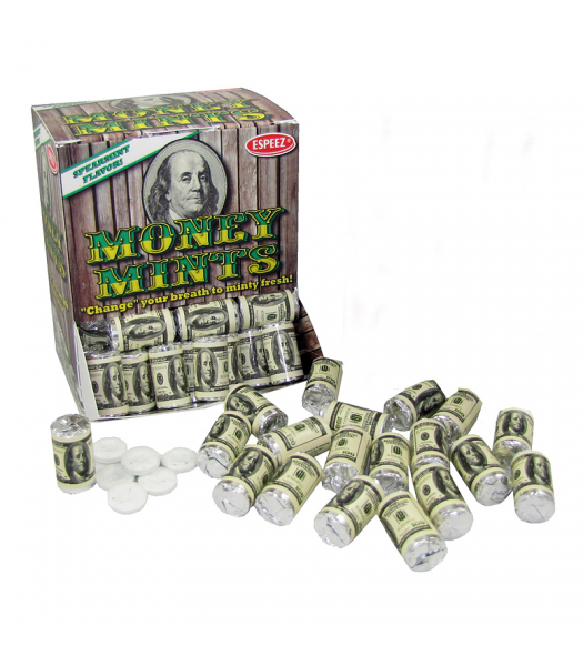 Espeez - Money Mints Roll 0.405oz (11.5g) - SINGLE Hard Candy