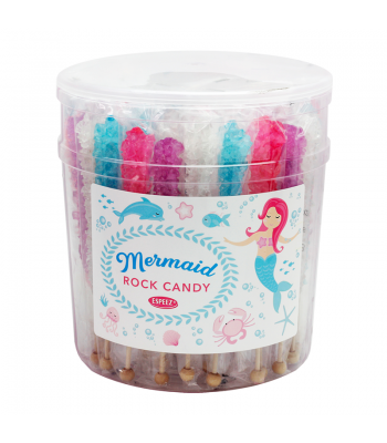 Espeez - Mermaids Rock Candy on a Stick - Assorted - SINGLE 0.8oz (22g) Lollipops