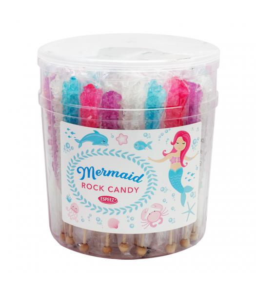 Espeez - Mermaids Rock Candy on a Stick - Assorted - SINGLE 0.8oz (22g) Lollipops