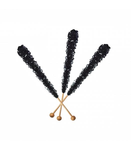 Espeez - Rock Candy on a Stick - Black Cherry (Black) - SINGLE 0.8oz (22g) Hard Candy