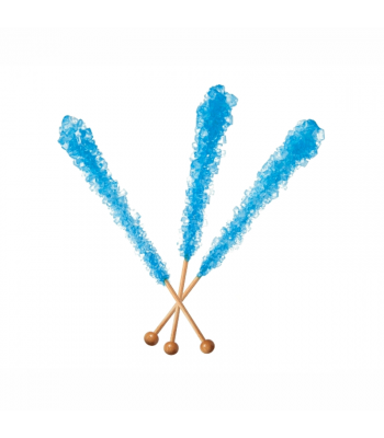 Espeez - Rock Candy on a Stick - Blue Raspberry (Blue) - SINGLE 0.8oz (22g) Lollipops