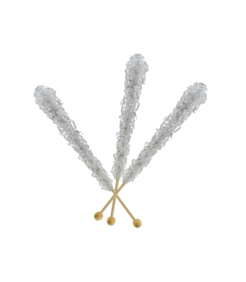 Espeez - Rock Candy on a Stick - Silver - SINGLE 0.8oz (22g) Lollipops Espeez