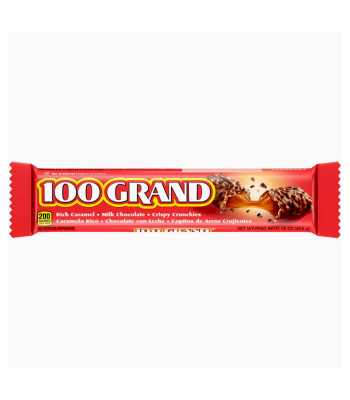 100 Grand Chocolate Bar - 1.5oz (42.5g) Sweets and Candy Ferrara