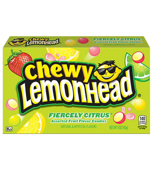 Clearance Special - Chewy Lemonhead - Fiercely Citrus - 5oz (142g) ** Best Before: 29th Oct 2018 ** Clearance Zone