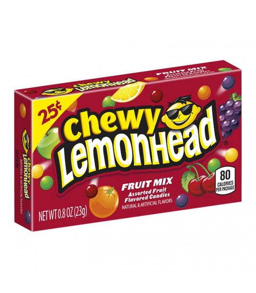 Chewy Lemonhead - Fruit Mix - 0.8oz (23g) Soft Candy Ferrara