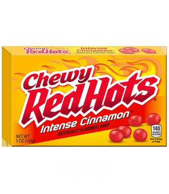 Chewy RedHots Intense Cinnamon Theatre Box 5oz (142g) Soft Candy Ferrara