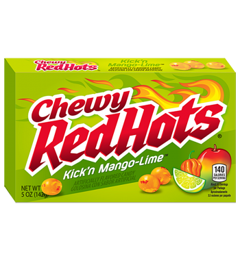 Chewy RedHots Kick'n Mango-Lime Theatre Box 5oz (142g) Soft Candy Ferrara