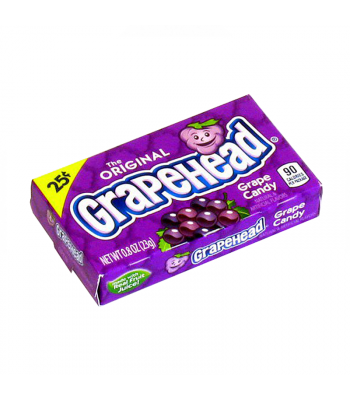 Ferrara Pan GrapeHead Grape Candy 0.8oz (23g) Soft Candy Ferrara