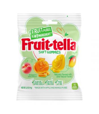 Fruit-tella Soft Gummies Peach & Mango - 3.2oz (91g) Sweets and Candy