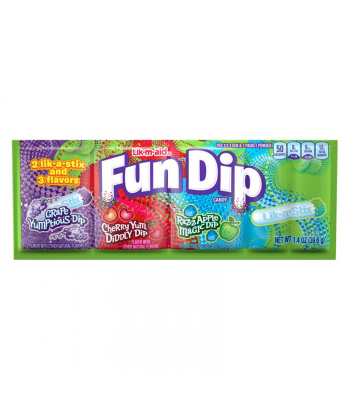 Fun Dip Lik-M-Aid 3 Flavour - 1.4oz (39.6g) Sweets and Candy Ferrara