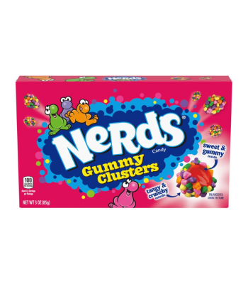 Nerds Gummy Clusters Theatre Box - 3oz (85g) Sweets and Candy Ferrara