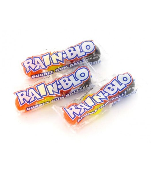 Rain-Blo Bubble Gum Balls (4 Piece) 0.53oz (15g) Bubble Gum Ferrara