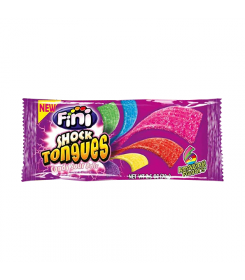 Fini Shock Tongues Sour Candy Belts - 2.5oz (70g) Sweets and Candy Fini
