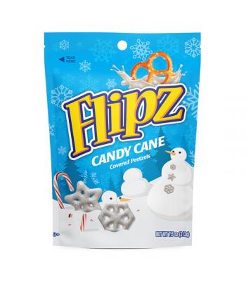Flipz Holiday Pretzels - Candy Cane - 7.5oz (212g) Pretzel Snacks DeMet's