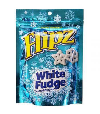 Flipz Holiday Pretzels - White Fudge - 7.5oz (212g) Pretzel Snacks DeMet's