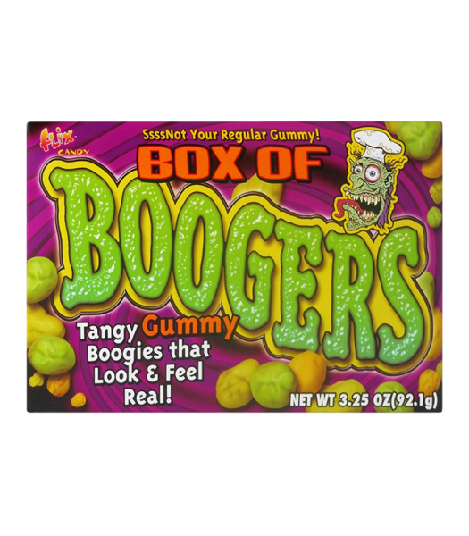 Flix - Box of Boogers Theatre Box 3.25oz (92.1g) [ Halloween Limited Edition ] Sweets and Candy