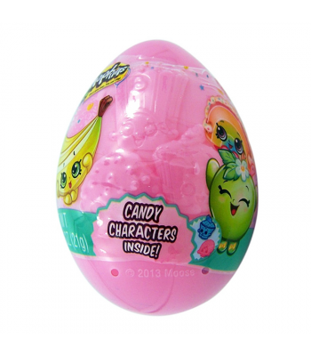 Shopkins Embossed Plastic Egg /w Candy Characters - 0.75oz (21g)