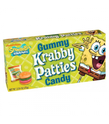 Spongebob Squarepants Gummy Krabby Patties Theatre Box - 2.54oz (72g) Sweets and Candy