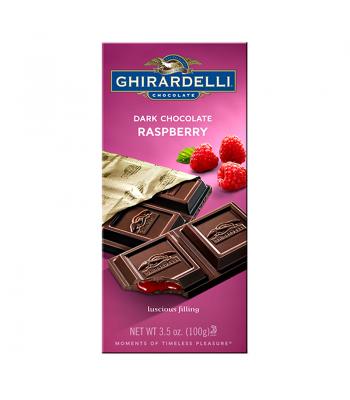 Ghirardelli Chocolate - Dark Chocolate Raspberry Bar - 3.5oz (100g) Chocolate, Bars & Treats