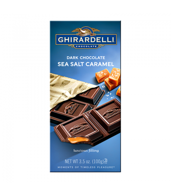 Ghirardelli Chocolate - Dark Chocolate Sea Salt Caramel Bar - 3.5oz (100g) Chocolate, Bars & Treats