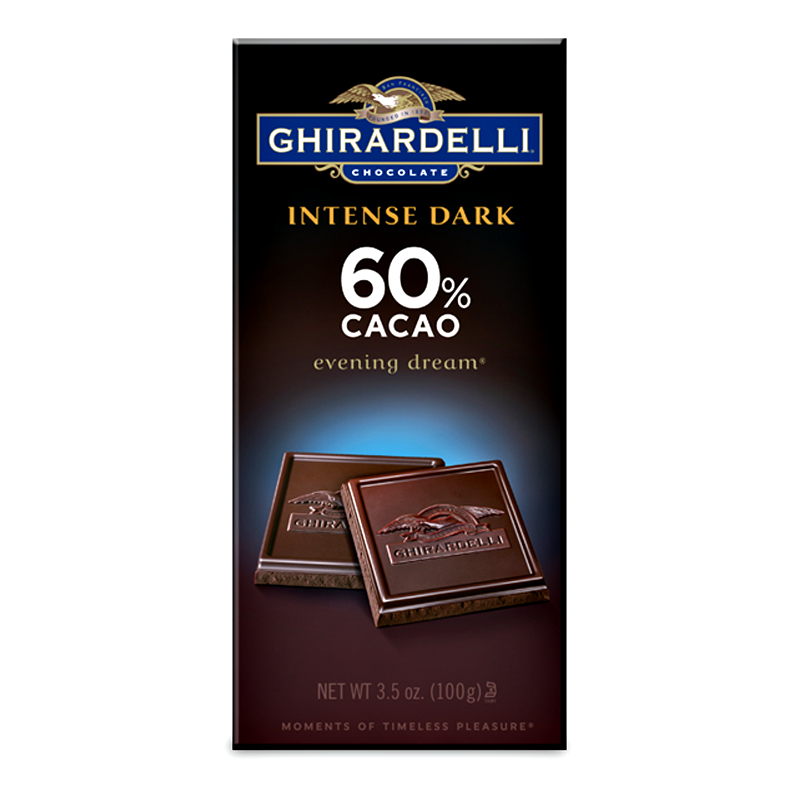 Ghirardelli Chocolate - Intense Dark 60% Cacao Evening Dream Bar ...