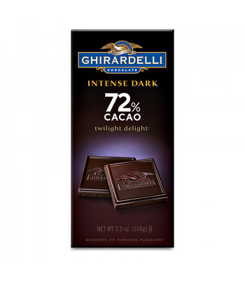 Ghirardelli Chocolate - Intense Dark 72% Cacao Twilight Delight Bar - 3.5oz (100g) Chocolate, Bars & Treats