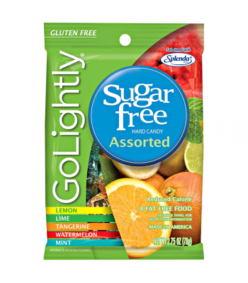 GoLightly - Assorted Sugar Free Hardy Candy - 2.75oz (78g) Sugar Free
