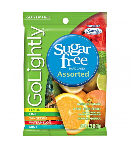 GoLightly - Assorted Sugar Free Hardy Candy - 2.75oz (78g) Sugar Free