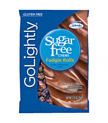 GoLightly - Fudgie Rolls Sugar Free Chews - 2.75oz (78g) Sweets and Candy