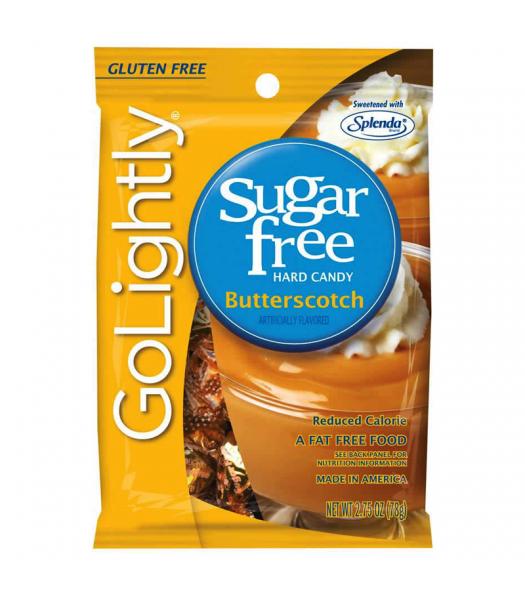 GoLightly - Butterscotch Sugar Free Candy - 2.75oz (78g) Sugar Free